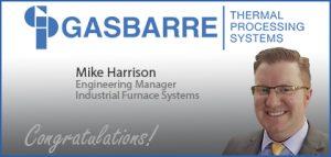 Gasbarre Employee Promotion - MIke Harrison
