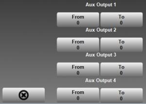 Presslog Lite - Aux Outputs Screen