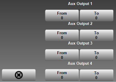 Presslog Lite - Aux Outputs Screen