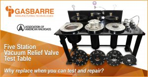 Five Station Vacuum Relief Valve Test Table