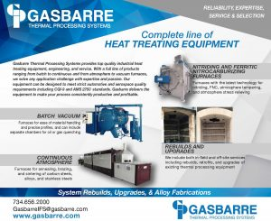 Gasbarre Thermal Processing Systems - Complete line of heat treating equipment