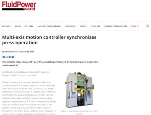Mulit-axis motion controller synchronizes press operation