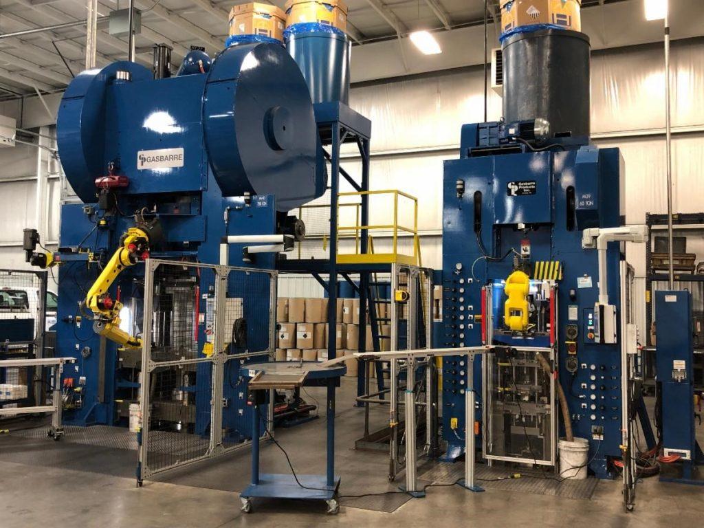 Gasbarre 550 ton multi-motion press