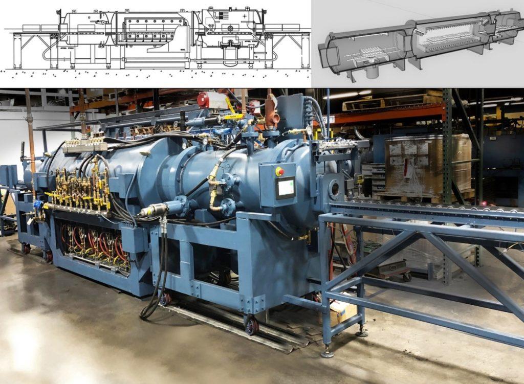 5 Zone Continuous Vacuum Furnace